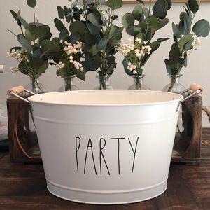 Rae Dunn large PARTY Tin Drink Ice Bucket